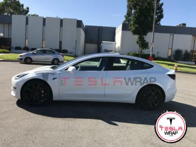 Tesla Model 3 matte blue vinyl car wrap