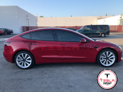 Tesla Model 3 Purple Vinyl Wrap