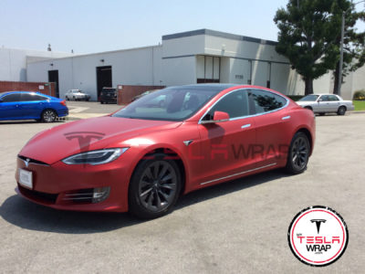 Tesla Model S Chrome Wrap