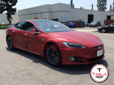 Tesla model S car wrap Los Angeles