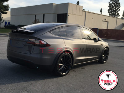 Tesla Model X matte car wrap