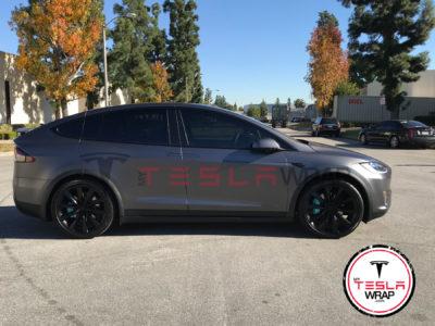 Tesla Model X Matte black wrap