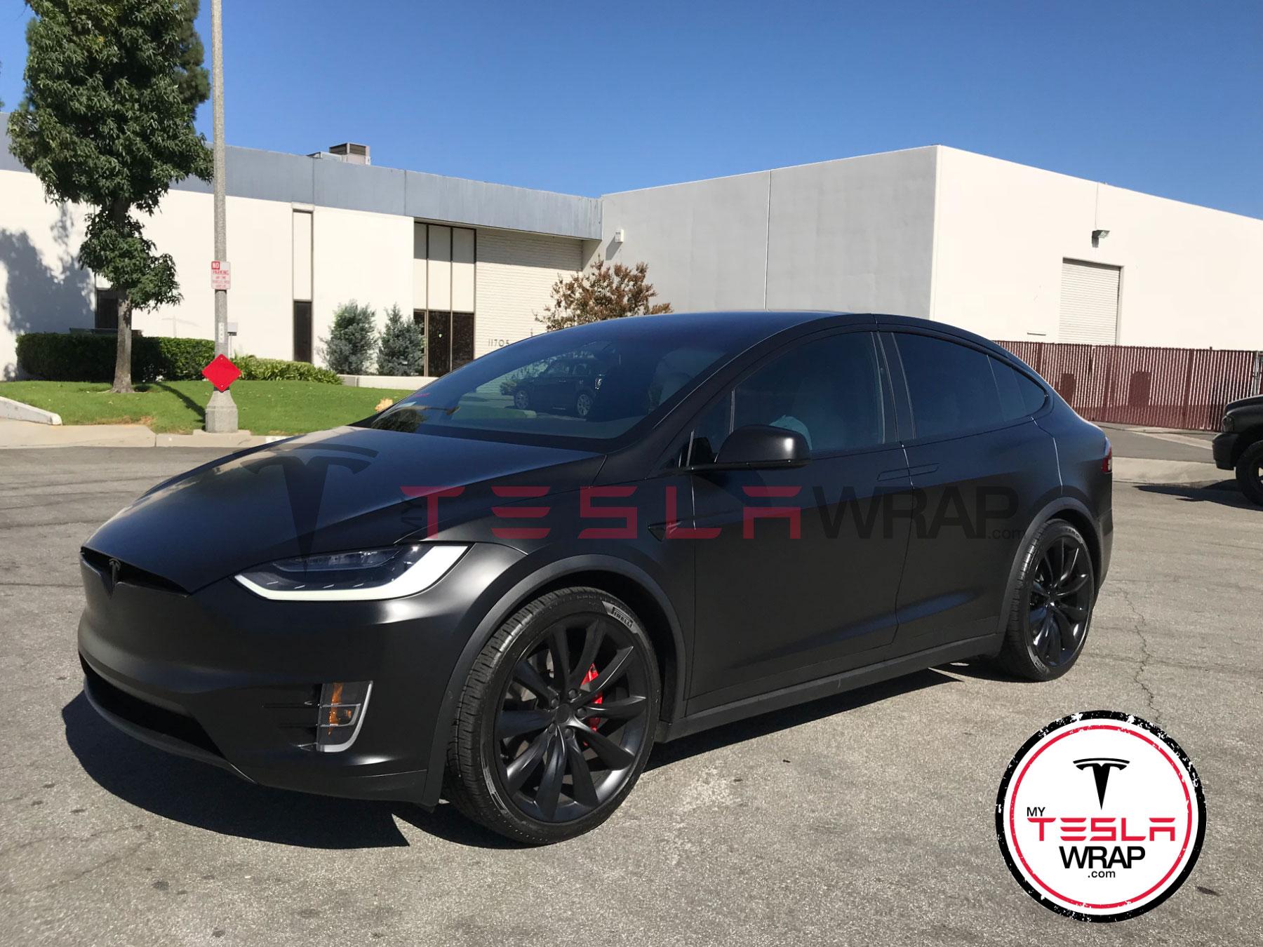 Tesla Model X black Vinyl car wrap