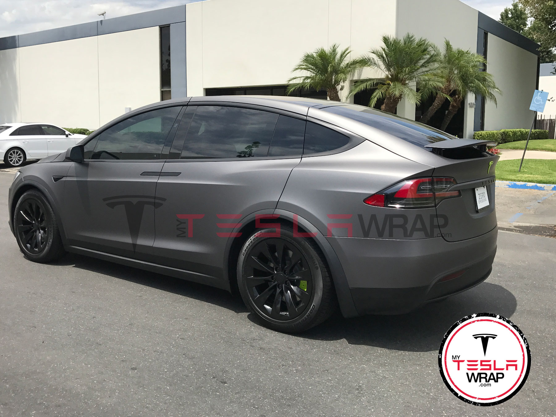 Matte black Tesla Model X